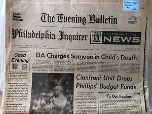 The Evening Bulletin Philadelphia Inquirer Daily Newspaper June 24 1975
