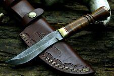 USA AUK- 305  Custom Handmade Damascus Steel Hunter Skinning Camping Knife