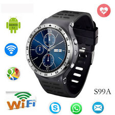 S99A Bluetooth Smart Watch Phone mate Health Monitor 3G App Sync For Android IOS