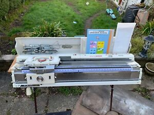 knitmaster 360 with srp 50 ribbing attachment double bed full service and tested