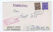 All.Bes./Gemeinsch.Ausg. Mi. 934, 918, Not-R-Stempel Bad Wörishofen, AKS