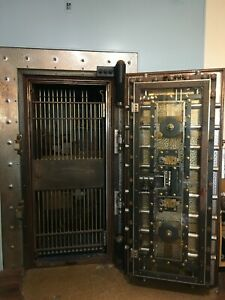Historic Bank Vault Door with Day Gate and Frame
