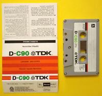 MC Musicassetta TDK D-C 90 vintage compact cassette audiotape USATA no ampex