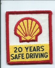 Shell oil & gas Company 20 years safe driving patch 2-5/8 X 2-14 #980