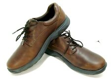 Dunham by new balance leather casual lace up oxford shoes brown men's 16 medium