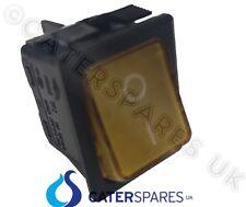 16 Amp Interruptor Encendido Apagado Ámbar Doble Polo 4 Pin 22X31MM 230V