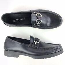 Donald J Pliner Lelio Horsebit Loafers Mens 10.5 Black Leather