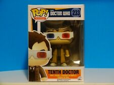 Funko Pop! Dr Who - 10th Tenth Doctor with 3D Glasses #233 +P/Prot