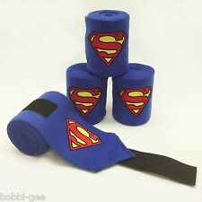 SUPERMAN LOGO EMBRIDERED - FLEECE POLO LEG WRAPS – HORSE SIZE - by BobbiGee's