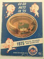 Mets Baseball Program & Scorecard VS The Giants 1975 072619nonrh