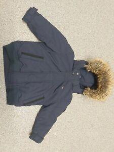 Boys 18 Months Tommy Hilfiger Faux Fur Bomber Jacket Excellent Condition