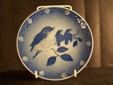 """1982 Royal Copenhagen - Mothers Day Plate - """"Mother Robin and Chicks"""""""
