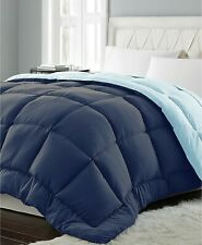 Blue Ridge Down Alternative King Comforter Reversible Blue Microfiber