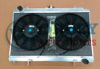 40MM Aluminum radiator&FANS for NISSAN SILVIA S14 S15 200SX SR20DET 2.0 94-02 MT