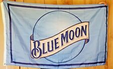 Blue Moon Beer Flag 3'x5' NEW Sales Bar Man Cave Banner Sign Christmas Gift