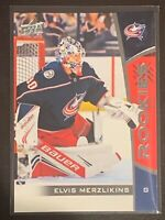 2019-20 Elvis Merzlikins UpperDeck NHL ROOKIES RC Card #16 Columbus Blue Jackets