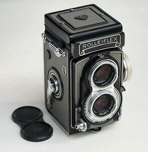 Franke und Heidecke  Rolleiflex  T  6x6 / 4x5,5/ 4x4   grau  Tessar  3,5/75