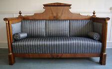 Fantastisches Sofa Biedermeier Klassizismus Empire Säulen Mahagoni - Bezug TOP