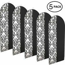 "Dress and Gown Garment Travel Bags 54"" x 24"" Hanging Window Tapered - 5 Pack"