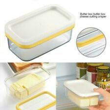2 in1 Butter Dish Butter Serving Tray with Lid Cutter Container QUALITY Box P5Y9