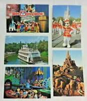 Lot vintage 80's postcards Disneyworld Mickey Castle Railroad Small World UNUSED
