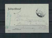 Feldpostbrief, Jäger Batl. 13, 1. Komp. FPST. 406  nach Meissen 1916