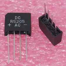 16× DC Components RS205 KBP06 FULL WAVE BRIDGE RECTIFIER DIODE 600V 2A SIP-4 †