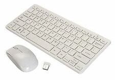 Wireless Mini Keyboard and Mouse Combo with Keyboard Cover Black / White