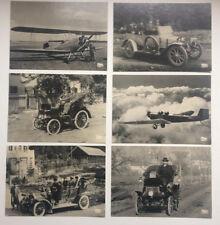 Metz collection historisch alte Postkarten Ansichtskarte 6 Stück Auto Flugzeug