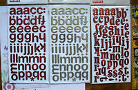 TINSEL RED & SILVER 3 Types Letter&NumberStickers 25-35mmTall&20-30mmW Choice L2
