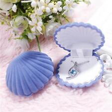 Cute Shell Velvet Jewelry Gift Box Earring Necklace Bracelet Ring Holder IT