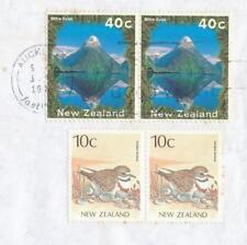 NEW ZEALAND cover 40c pair Mitre Peak & 10c Dotterel AUCKLAND Postmark 1996