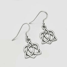 Celtic Triskele Spirals Dangle Earrings *  Sterling Silver Over Pewter Boxed