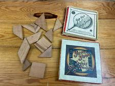 altes Spiel Yum Yum aus Holz, Spielzeug, Deko (G)15861