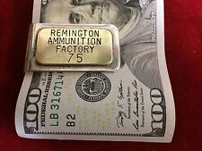 Money Clip: Remington Ammunition Factory, brass tag on Nickle
