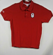 Team GB Adidas Mens Polo Shirt Great Britain Red L Large Soccer Olympics England