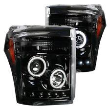 Recon Black/Smoke CCFL Halo Projector Headlights for 11-16 F250/F350/F450/F550