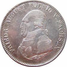 SACHSEN AKS 24  1 Speciestaler Friedrich August von 1822 in VZ  HKL  473002