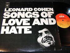 LEONARD COHEN Songs of Love and Hate / Dutch LP 1971 CBS S 64090