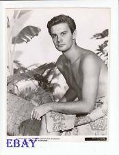 Louis Jourdan barechested VINTAGE Photo glued back to back