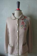 Reitmayer   Strickjacke Jacke Trachten Muster - Blumen braun Größe 38 M (B12) #
