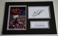 Viv Anderson Signed Autograph A4 photo mount display Manchester United AFTAL COA