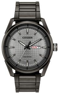 *BRAND NEW* Citizen Eco-Drive Men's Gray Dial Gray Bracelet Watch AW0087-58H