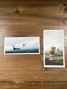 JAWS Art Print Mini Poster Set Of 2 By JC Richard Signed Mondo The Final Battle