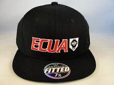 ECUA Zephyr Fitted Hat Cap Size 7 1/8 Black
