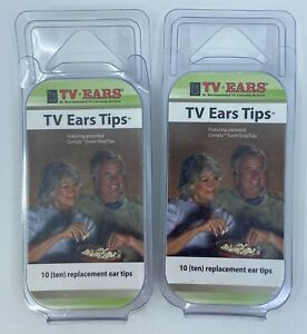 Lot of 2 TV Ears Replacement Ear Tips 20 Comply Foam Snap Tips 10-Pairs