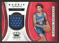2018-19 Crown Royale Basketball Rookie JERSEY #RJ-JRB Jerome Robinson