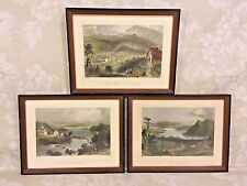 3 Ant Engravings in Frames Sugar Loaf Areas & Lakes from Maine William Bartlett
