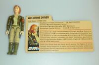 1983 GI Joe Cover Girl v1 Figure Wolverine Tank Driver w/ File Card *Complete