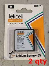 2 x Lot Tekcell CR-P2PA/1B CRP2 EL223A DL223 K223LA 6v Lithium Battery Korea